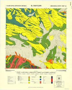 1 : 125,000 Somaliland Protectorate. Geological Survey. D.C.S. 1076, El Dur Elan